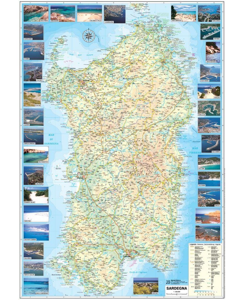 Cartina Spiaggie Sardegna.Librolandia It Il Negozio Online Giochi Carnevale Scuola 1 Cartina Sardegna Spiagge E Porti 1 300000