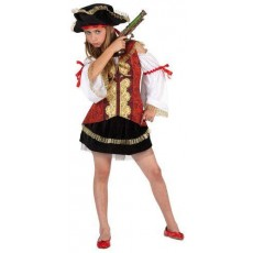 atosa 06370 costume piratessa lusso 10/12 anni