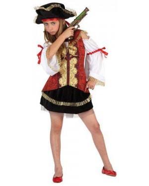 Costume  Da Pirata Lusso Bambina T1 3-4 Anni