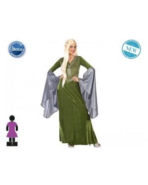 ATOSA 54533 costume elfo verde t-2 lungo donna