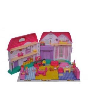 giocheria rdf87304 casa bambole maxi gigante 25 accessori