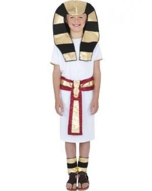 Costume Ragazzo Egiziano S Robe Cinghia Copri C