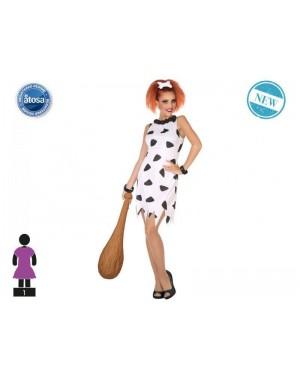ATOSA 53883 costume flinstones wilma t-1 donna primitivo