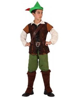 Costume Robin Bambino Dei Boschi T4 10/12 Con Acc