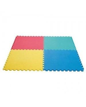 giocheria rdf85019 maxi tappeto 4 pezzi da cm.60x60 colorati