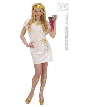 Costume Tunica Beige Xl Con Cintura Oro