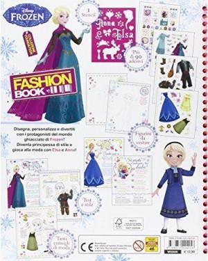DISNEY None frozen libro fashion book con adesivi