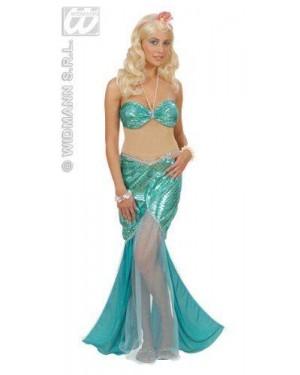 Costume Sirena S Vestito Con Collana Di Perle