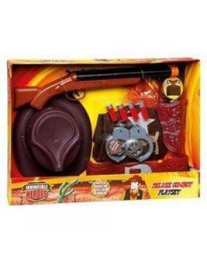giocheria rdf50860 lawman set deluxe cappello, pistola, fucile e acc.