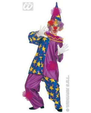 Costume Star Clown M Casacca Collare E Pantaloni