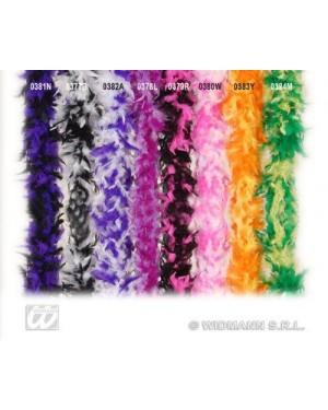 WIDMANN 0377B boa in piume bicolore cm 180 bianco nero