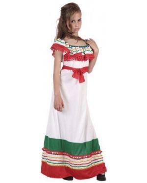 Costume Da Messicana Bambina T3 7-9 Anni