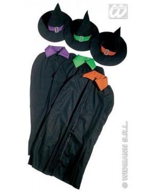 Costume Strega M Mantello Con Cappello 3 Col