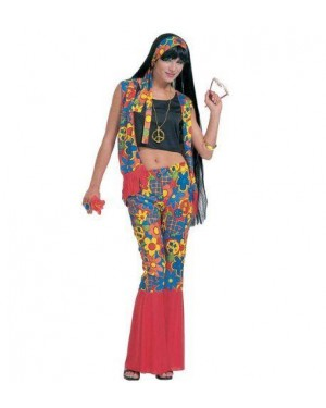 Costume Hippie M Donna Tessuto