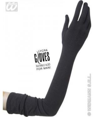 widmann 1449c guanti neri lunghi in lycra 60 cm -