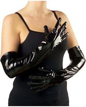 WIDMANN 3451B guanti lunghi in vinile neri 56cm