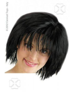 CARNIVAL TOYS 02336 parrucca caschetto nera dinamic girl liscia