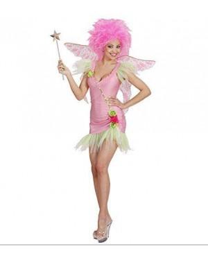 Costume Fatina Rosa S Vestito,