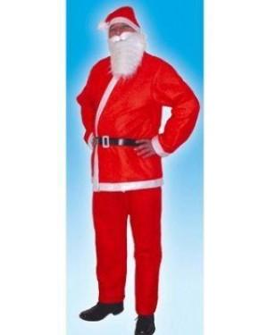 Costume Babbo Natale M Con Accessori Barba