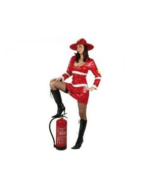 Costume Da Pompiere Rosso T-1