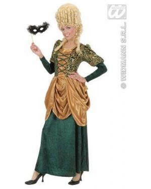 Costume Marchesa Verde S In Velluto E Raso Vest