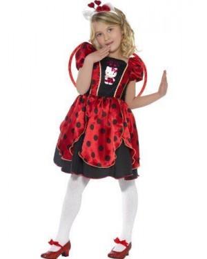 SMIFFY S S37238S costume coccinella kitty, lady bug costume da fata