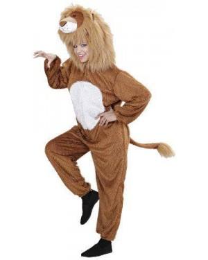 Costume Leone Peluche Xl Cappuccio Maschera