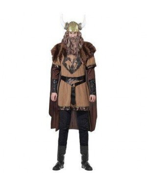 WIDMANN 07694 costume vichingo velluto xl marrone