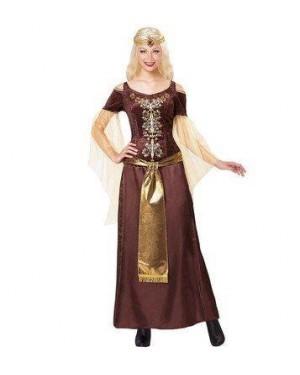 WIDMANN 07682 costume vichinga velluto m marrone