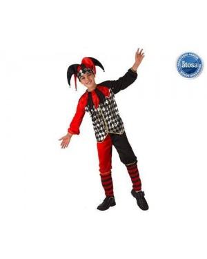 Costume Buffone Bambino T-1 Giullare Con Accessori