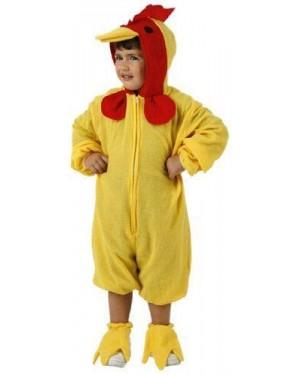 ATOSA 95556 costume pulcino 5/6 anni flanella