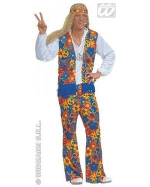 WIDMANN 35253 costume hippie l uomo tessuto