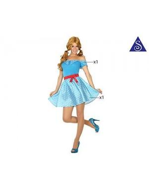 Costume Anni 50 Blu Xs-S