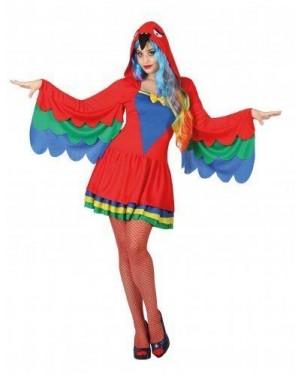 Costume Pappagallo Adulto T1 Xs\S