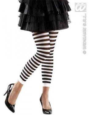 widmann 2044t calze leggings rigati nero-bianco 70 den
