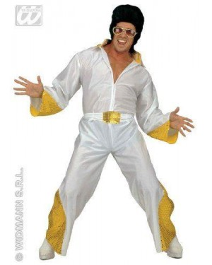Costume Elvis The King Xl Con Ricami In Pailettes