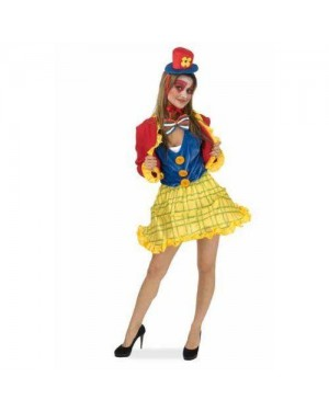 Costume Clown Donna M Giallo/Verde