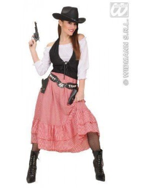 Costume Western Belle L Camicia-Corsetto-Gonna