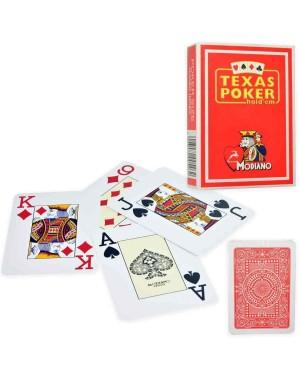 modiano 300546 carte poker texas jumbo rosso pvc