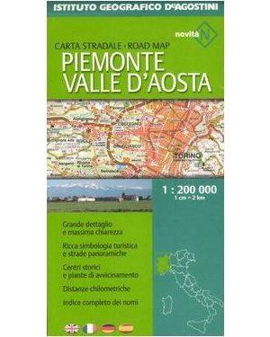 DE AGOSTINI  cartina stradale piemonte valle d aosta 1:200000