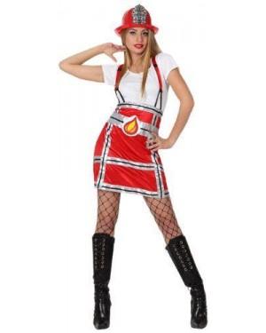 Costume Pompiere Donna, Adulto T. 2