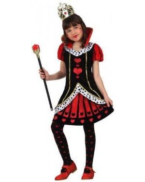 ATOSA 22627 costume regina di cuori t2 5/6 vestito