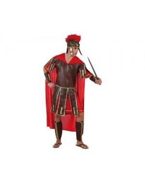 Costume Da Guerriero Romano Rosso Adulto Xxl T4