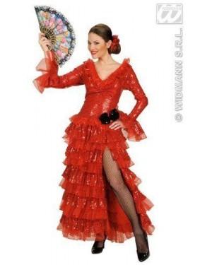 Costume Carmencita In Paillettes M Vestito,Molle