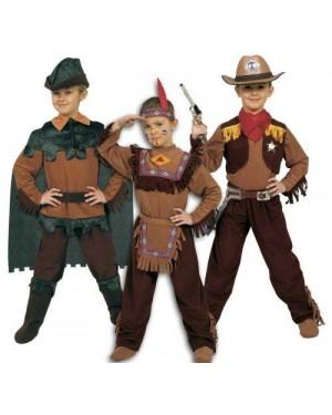 Costume Robin Indiano Cowboy 8/10 Tre In Uno