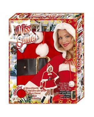 Costume Mamma Natale M Lusso Con Accessori