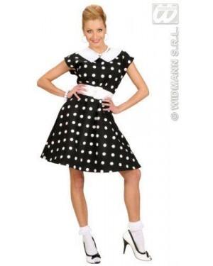 WIDMANN 58293 costume donna anni 50 l con sottog nera