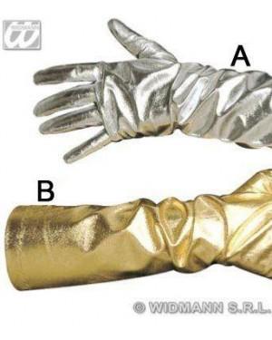 widmann 3424d guanti lunghi oro argento metallizzati