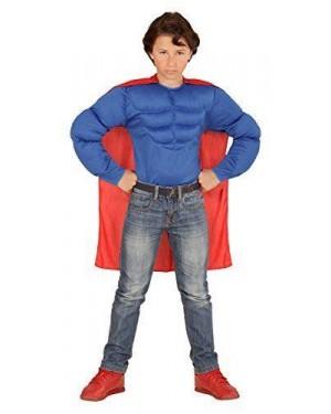 Camicia Super Muscoli 8/10 Superman +Mantello