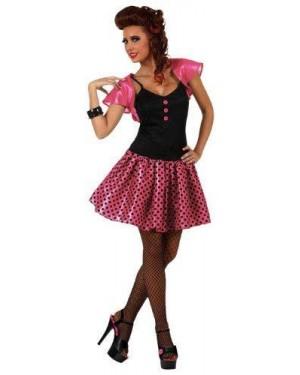Costume Donna Anni 60 Rosa T.1.
